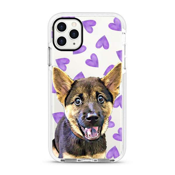 iPhone Ultra-Aseismic Case - Purple Hearts