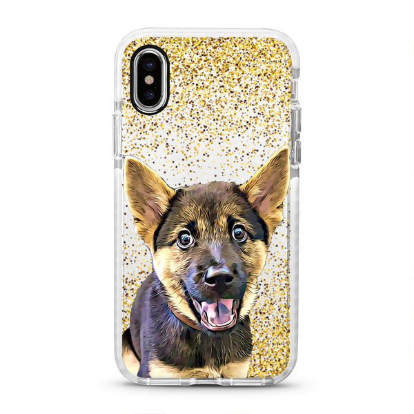 iPhone Ultra-Aseismic Case - Gold Sparkles