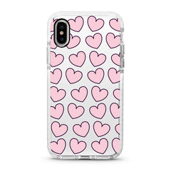 iPhone Ultra-Aseismic Case - Pink Hearts 2