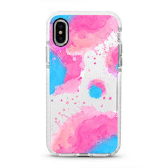 iPhone Ultra-Aseismic Case - Pink Blue Splash 2