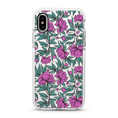 iPhone Ultra-Aseismic Case - Purple Flowers
