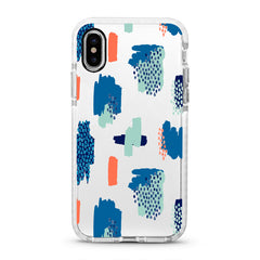 iPhone Ultra-Aseismic Case - Blue Abstract Paintings