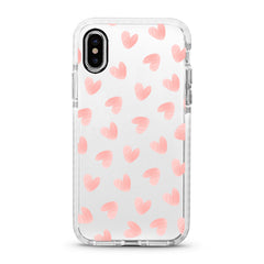 iPhone Ultra-Aseismic Case - Light Pink Heart