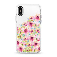 iPhone Ultra-Aseismic Case - Waterpaint Floral Mountain