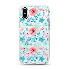 iPhone Ultra-Aseismic Case - Blue Peony