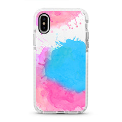 iPhone Ultra-Aseismic Case - Pink Blue Splash