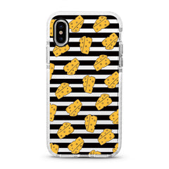 iPhone Ultra-Aseismic Case - Cheese on Black Stripe