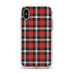 iPhone Ultra-Aseismic Case - Black And Red Checked Pattern
