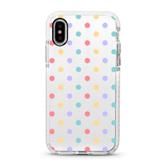 iPhone Ultra-Aseismic Case - Rainbow Poka Dots