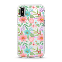 iPhone Ultra-Aseismic Case - Pastel Floral Bouquet