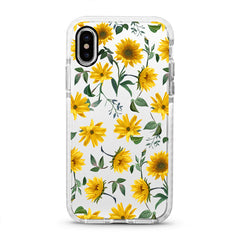 iPhone Ultra-Aseismic Case - Modern Yellow Flowers