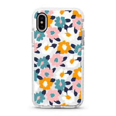 iPhone Ultra-Aseismic Case - Hand Painted Flowers 2
