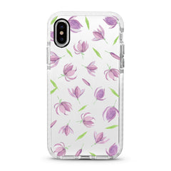 iPhone Ultra-Aseismic Case - The Falling Purple Floral