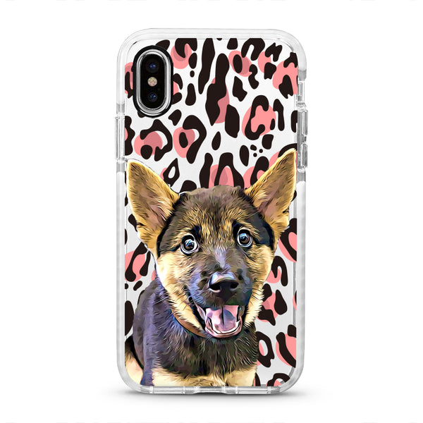 iPhone Ultra-Aseismic Case - Pink Leopard