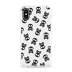 iPhone Aseismic Case - Black Skulls