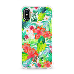 iPhone Aseismic Case - Wild Tropical Forest in Watercolor