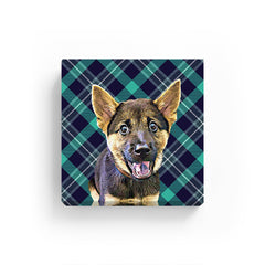 Pet Canvas - Green Check Pattern