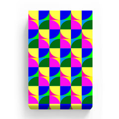 Pet Canvas - Bright Neon Colorful Shapes Seamless Pattern