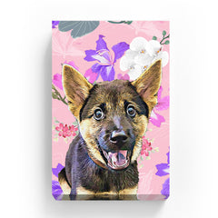 Pet Canvas - White Orchid and Pink Wild Flower