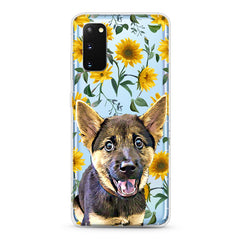 Samsung Aseismic Case - Modern Yellow Flowers