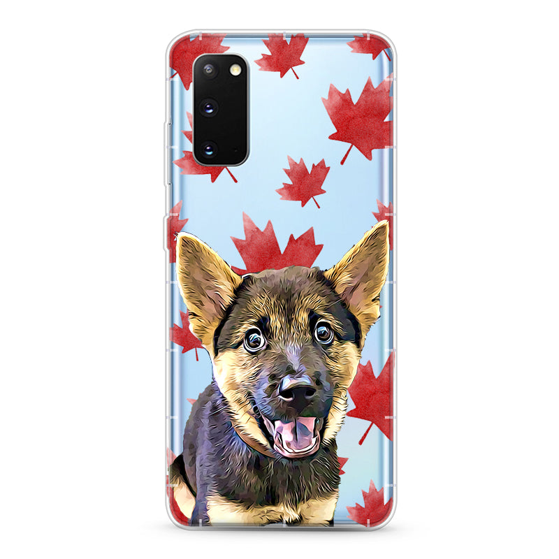 Samsung Aseismic Case - Red Maple Leaves