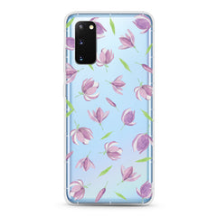 Samsung Aseismic Case - The Falling Purple Floral