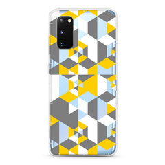 Samsung Aseismic Case - Gray And Yellow Pattern