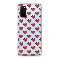 Samsung Aseismic Case - Pixel Red Hearts