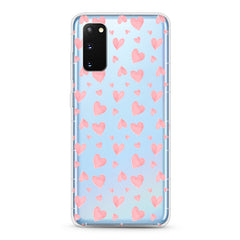 Samsung Aseismic Case - Cute Pink Hearts