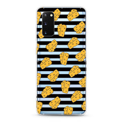 Samsung Aseismic Case - Cheese on Black Stripe