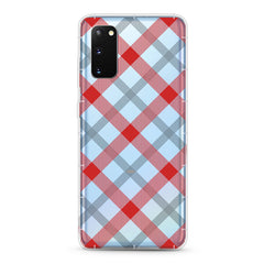 Samsung Aseismic Case - Red and White Checked Pattern