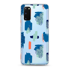 Samsung Aseismic Case - Blue Abstract Paintings