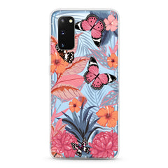 Samsung Aseismic Case - Butterfly in Pink Tropical Forest