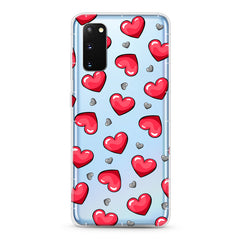 Samsung Aseismic Case - Red and Gray Hearts