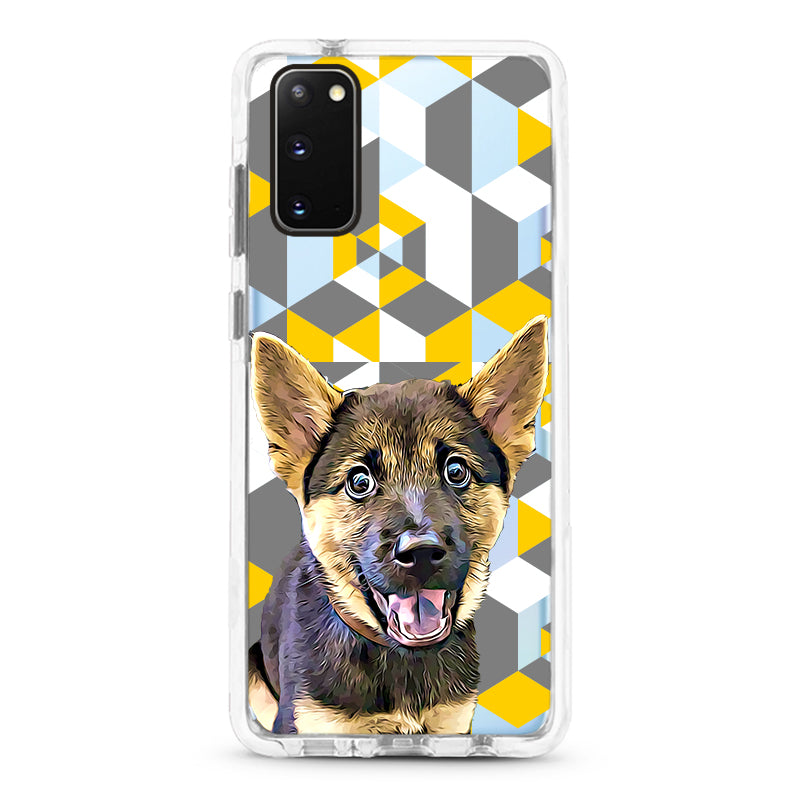 Samsung Ultra-Aseismic Case - Gray And Yellow Pattern