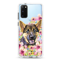 Samsung Ultra-Aseismic Case - Waterpaint Floral Mountain