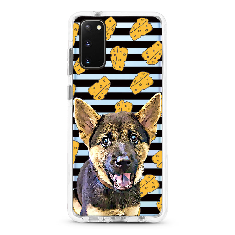 Samsung Ultra-Aseismic Case - Cheese on Black Stripe