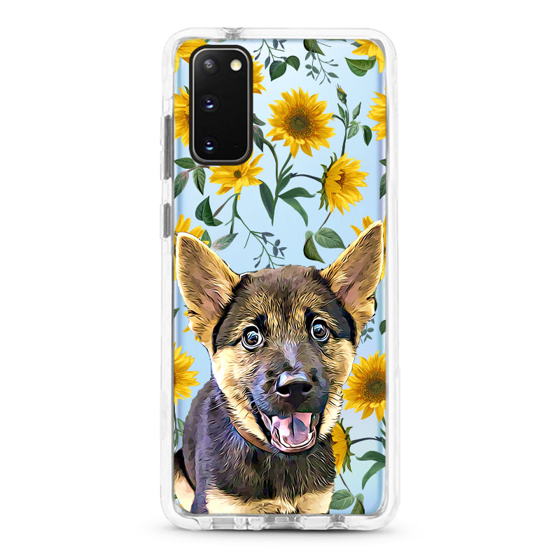 Samsung Ultra-Aseismic Case - Modern Yellow Flowers