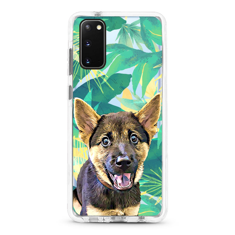 Samsung Ultra-Aseismic Case - Tropical in Yellow and Green