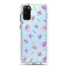Samsung Ultra-Aseismic Case - The Fallinf Purple Floral