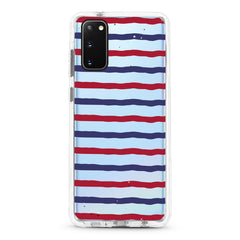 Samsung Ultra-Aseismic Case - Red Blue Stripe
