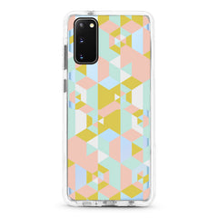 Samsung Ultra-Aseismic Case - Pink Geometric Blocks