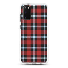 Samsung Ultra-Aseismic Case - Black And Red Checked Pattern