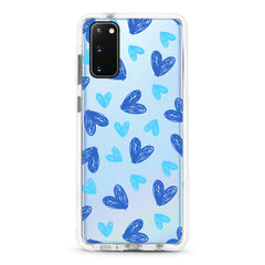 Samsung Ultra-Aseismic Case - Hand Drawing Blue Heart