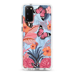 Samsung Ultra-Aseismic Case - Butterfly in Pink Tropical Forest