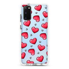 Samsung Ultra-Aseismic Case - Red and Gray Hearts