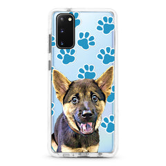 Samsung Ultra-Aseismic Case - Blue dog paws