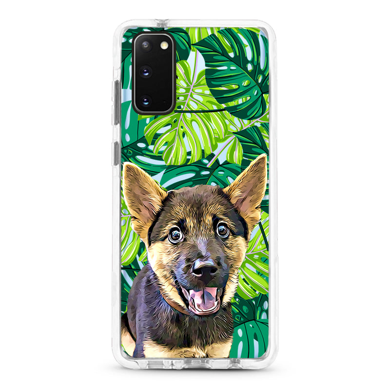 Samsung Ultra-Aseismic Case - Green Palm Tree