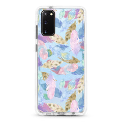 Samsung Aseismic Case - Water Paint Feathers