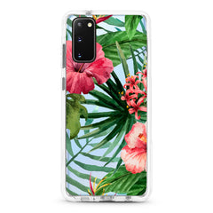 Samsung Ultra-Aseismic Case - Watercolor Tropical Pink Floral